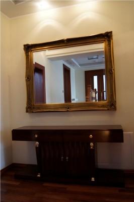 lustro w ramie